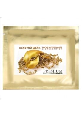 Маска коллагеновая Золотой шелк с биозолотом (Маски коллагеновые) ГП050001 1 шт